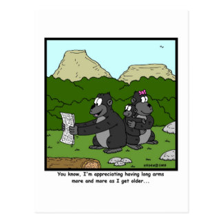 Failing Eyesight: Gorilla Cartoon Postcard