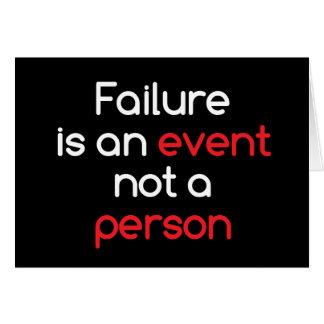 Failure is an event card