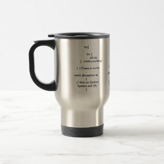 Failure is not an option - Java world Travel Mug