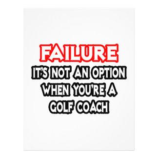 Failure Not an Option Golf Coach Full Color Flyer