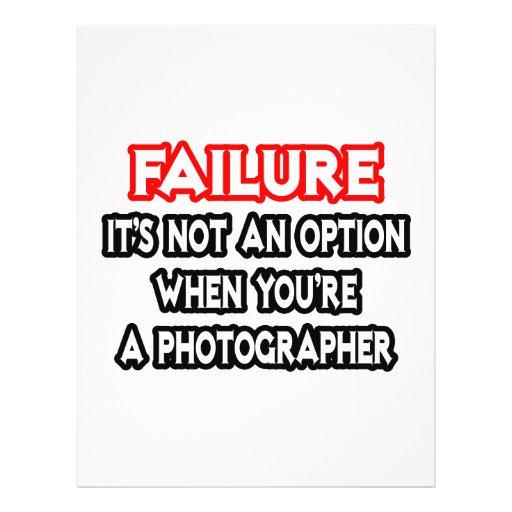Failure...Not an Option...Photographer Full Color Flyer
