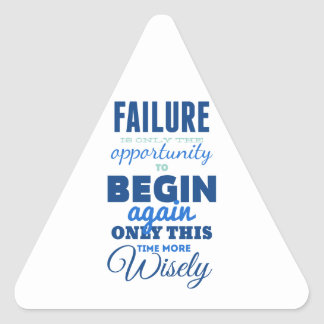 Failure! Vintage Typography Inspirational Card Triangle Sticker