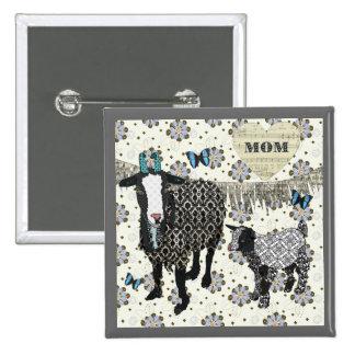 Fainting Goat Mom s Love Button