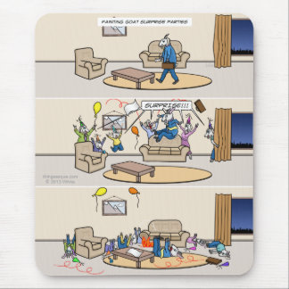 Fainting Goat Surprise Parties Mousepad