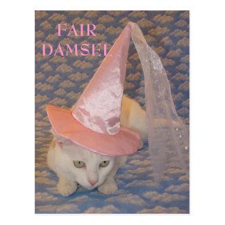 FAIR DAMSEL MISSY POSTCARD