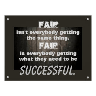 Fair Defined Classroom Poster