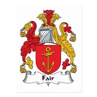Fair Family Crest Postcard