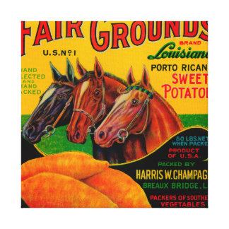 Fair Grounds Yam LabelBreaux Bridge, LA Canvas Prints