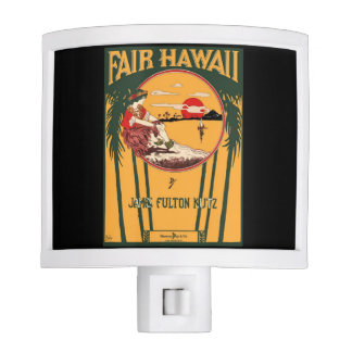Fair Hawaii Vintage Music Cover Nite Light