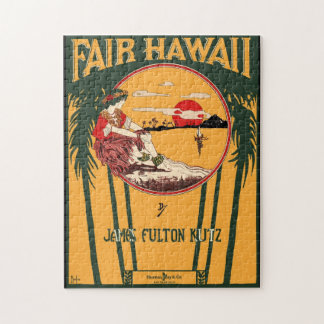 Fair Hawaii Vintage Sheet Music Cover Jigsaw Puzzle