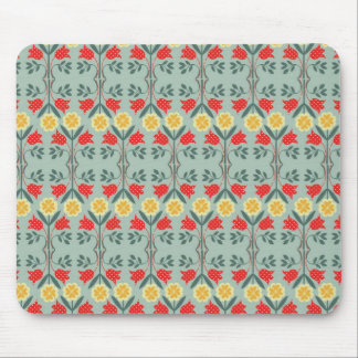 Fair isle fairisle floral retro hipster pattern mouse pad