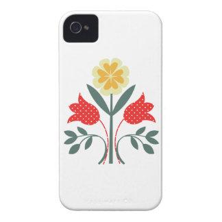 Fair isle floral pattern folk art folkart print iPhone 4 cases
