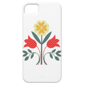 Fair isle floral pattern folk art folkart print iPhone 5 case