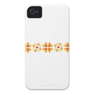 Fair isle flowers floral pattern folk art print iPhone 4 cover