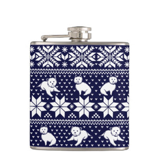Fair Isle Westies Flask