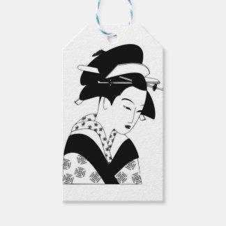 fair japanese goddess pack of gift tags