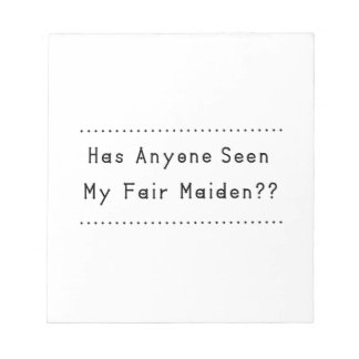 Fair Maiden Notepad