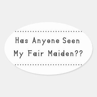 Fair Maiden Oval Sticker