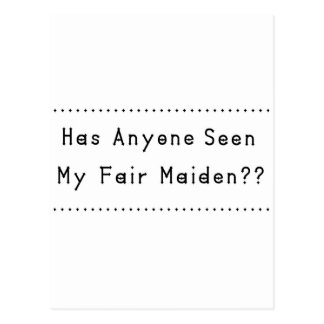 Fair Maiden Postcard