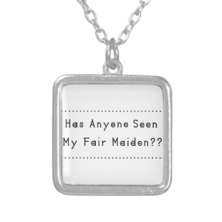 Fair Maiden Silver Plated Necklace