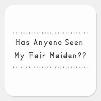 Fair Maiden Square Sticker