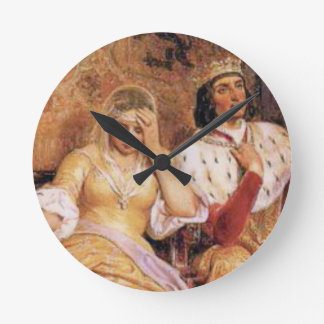 fair queen and king round clock