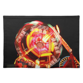Fair Ride Spinning Colours Red and yellow Place Mats
