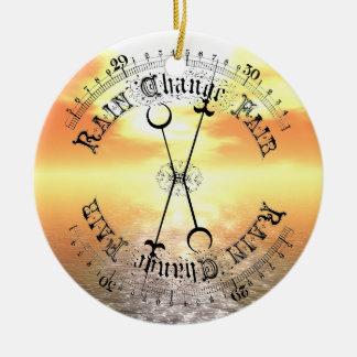 Fair Weather Barometer Sunset Christmas Pendant Ceramic Ornament