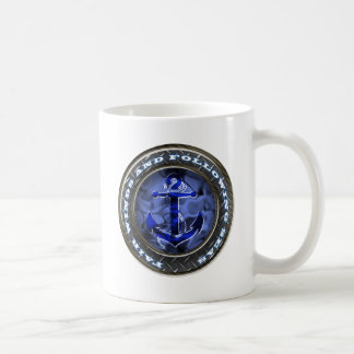 Fair winds and following seas anchor coffee mug