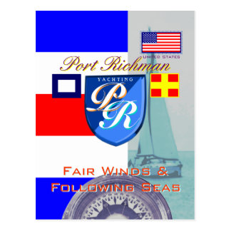 Fair Winds and Following Seas Port Richman Postcard