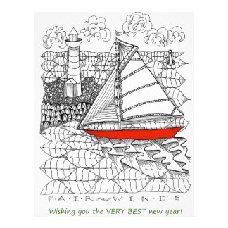 Fair Winds Sailors Prayer Style Custom Letterhead