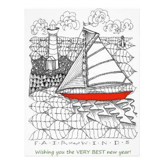 Fair Winds Sailors Prayer Style Custom Letterhead
