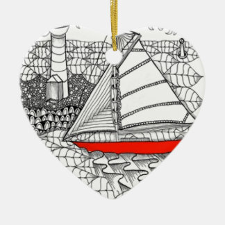 Fair Winds Zentangle for Sailors Christmas Tree Ornaments