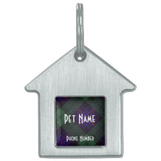 Fairbairn clan Plaid Scottish kilt tartan Pet ID Tag