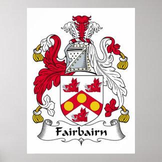 Fairbairn Family Crest Poster