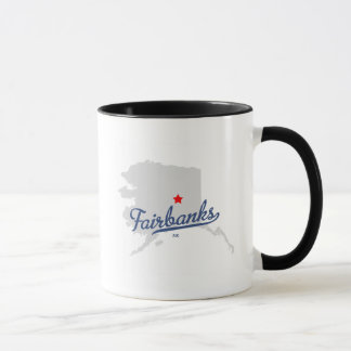 Fairbanks Alaska AK Shirt Mug