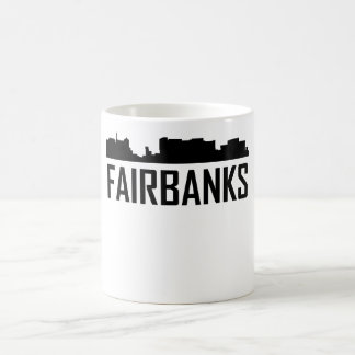 Fairbanks Alaska City Skyline Coffee Mug
