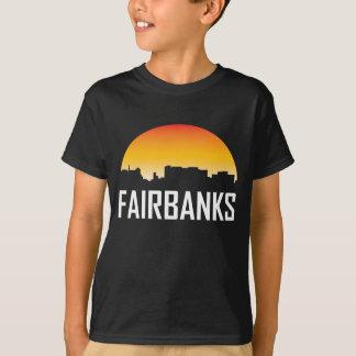 Fairbanks Alaska Sunset Skyline T-Shirt