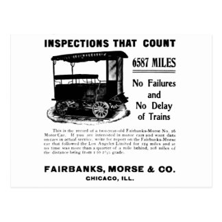 Fairbanks Morse Track Inspection MotorCar Postcard