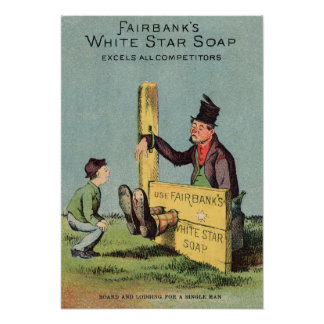 Fairbank's White Star Soap Ad Poster
