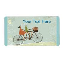 Faire du vélo étiquettes