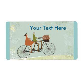 Faire du vélo étiquette d'expédition