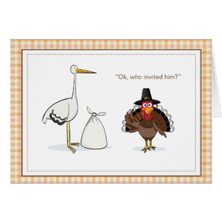 Faire-part de grossesse de thanksgiving carte de correspondance