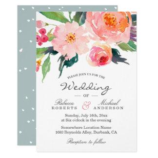 Faire-part de mariage botanique d'aquarelle