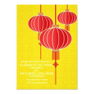 Faire-part de mariage chinois de lanterne de