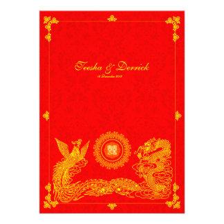 Faire-part de mariage classique de Chinois de Phoe