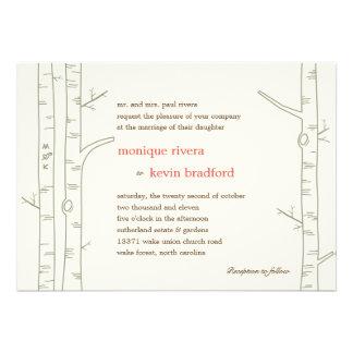 Faire-part de mariage d arbres de bouleau - coutum