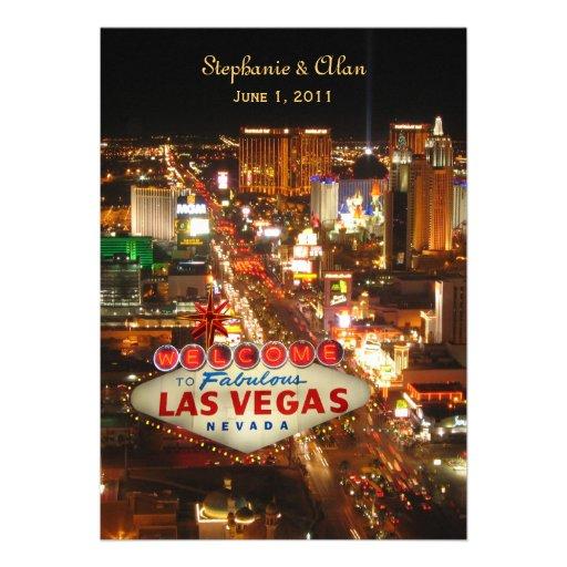 Faire-part de mariage de bande de Las Vegas
