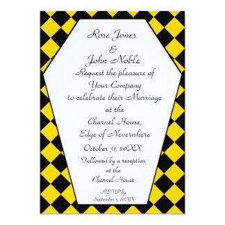 Faire-part de mariage de bois d'ébène de Damier