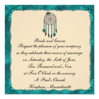 Faire-part de mariage de coutume de Dreamcatcher Carton D'invitation 13,33 Cm